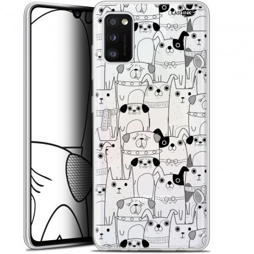 "Carcasa Gel Extra Fina Samsung Galaxy A41 (6.1"") Design Chien Noir"