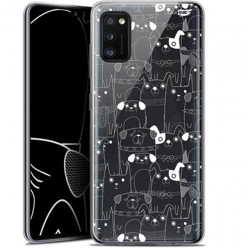 """Carcasa Gel Extra Fina Samsung Galaxy A41 (6.1"""") Design Chien Blanc"""