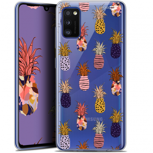 "Carcasa Gel Extra Fina Samsung Galaxy A41 (6.1"") Design Ananas Gold"