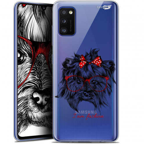 "Carcasa Gel Extra Fina Samsung Galaxy A41 (6.1"") Design Fashion Dog"