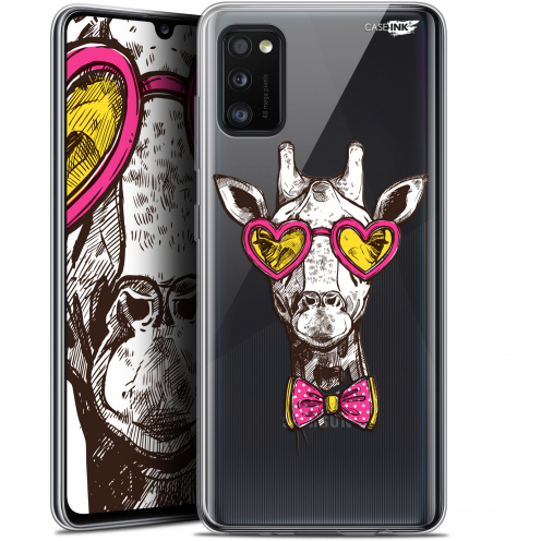 "Carcasa Gel Extra Fina Samsung Galaxy A41 (6.1"") Design Hipster Giraffe"