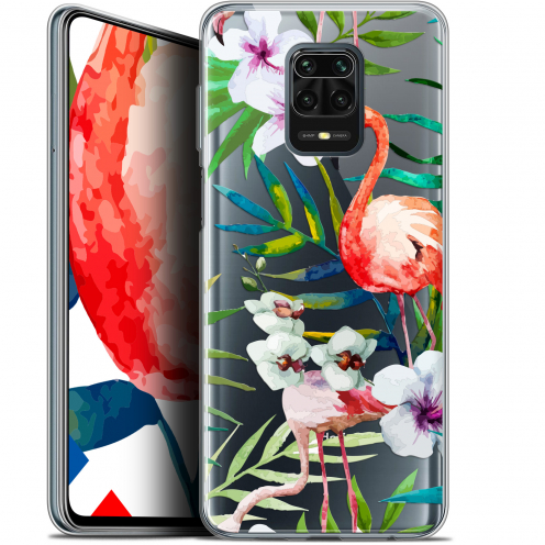 "Carcasa Gel Extra Fina Xiaomi Redmi Note 9S (6.67"") Watercolor Tropical Flamingo"