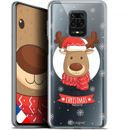 """Carcasa Gel Extra Fina Xiaomi Redmi Note 9S (6.67"""") Noël 2017 Cerf à Echarpe"""