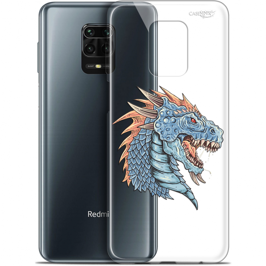 "Carcasa Gel Extra Fina Xiaomi Redmi Note 9S (6.67"") Design Dragon Draw"