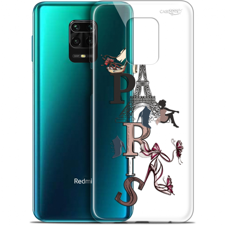 "Carcasa Gel Extra Fina Xiaomi Redmi Note 9S (6.67"") Design Stylish Paris"