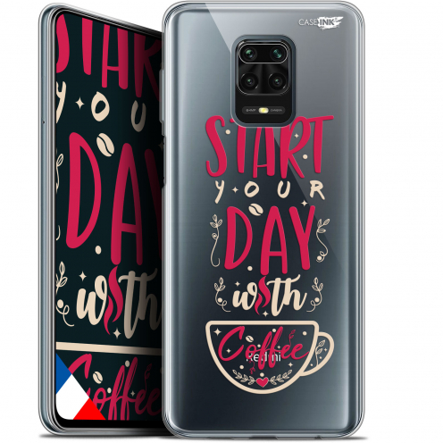 "Carcasa Gel Extra Fina Xiaomi Redmi Note 9S (6.67"") Design Start With Coffee"