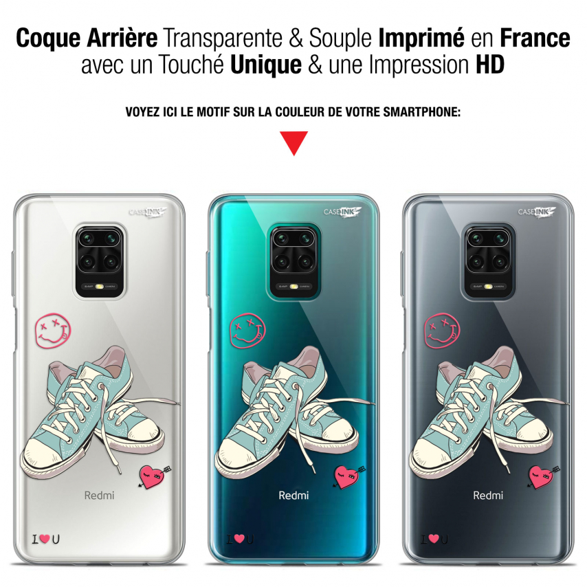 "Carcasa Gel Extra Fina Xiaomi Redmi Note 9S (6.67"") Design Mes Sneakers d'Amour"