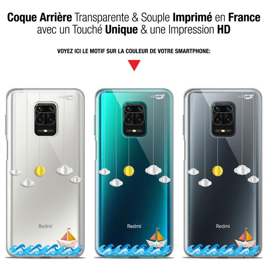 "Carcasa Gel Extra Fina Xiaomi Redmi Note 9S (6.67"") Design Petit Bateau en Mer"