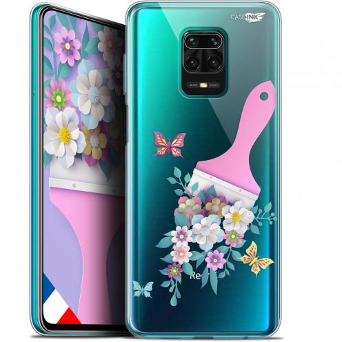 """Carcasa Gel Extra Fina Xiaomi Redmi Note 9S (6.67"""") Design Pinceau à Fleurs"""