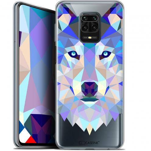 "Carcasa Gel Extra Fina Xiaomi Redmi Note 9 PRO (6.67"") Polygon Animals Lobo"