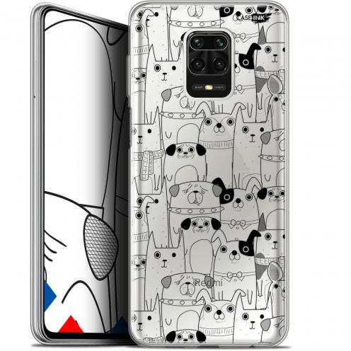 "Carcasa Gel Extra Fina Xiaomi Redmi Note 9 PRO (6.67"") Design Chien Noir"