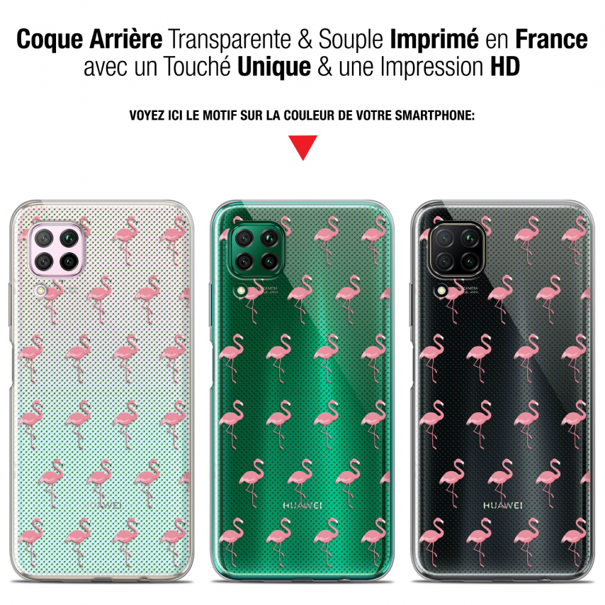 "Carcasa Gel Extra Fina Huawei P40 Lite (6.4"") Pattern Les flamants Roses Dots"