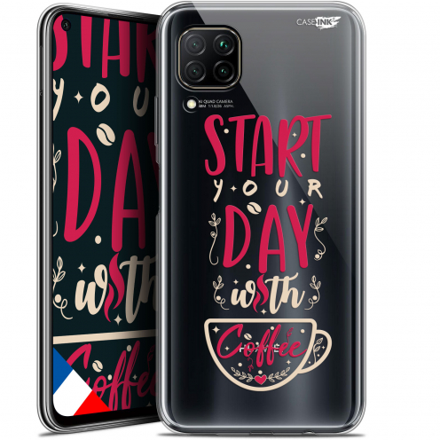 "Carcasa Gel Extra Fina Huawei P40 Lite (6.4"") Design Start With Coffee"