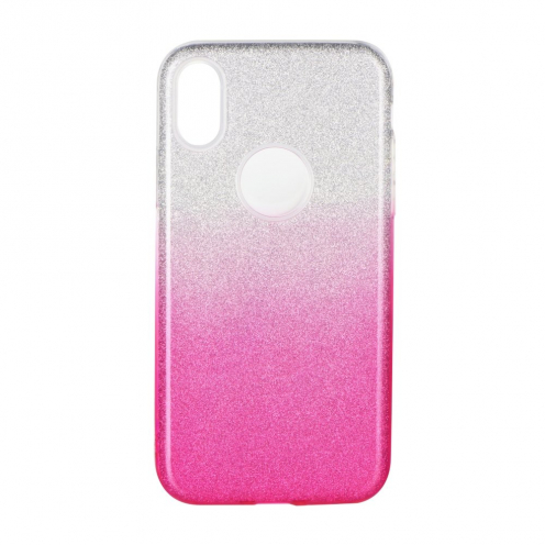 Forcell SHINING carcasa for Samsung Galaxy A41 clear/pink