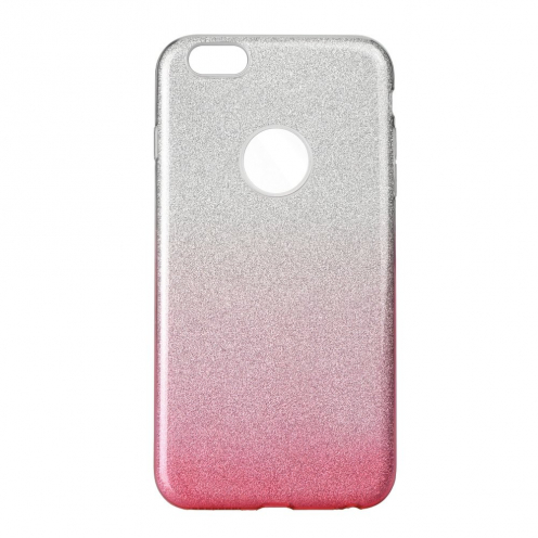 Forcell SHINING carcasa for iPhone 6/6S clear/pink