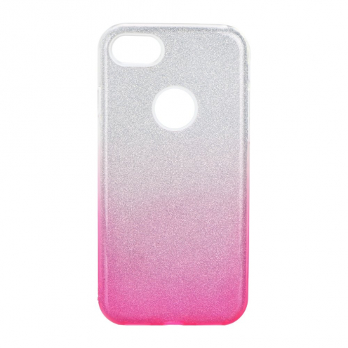 Forcell SHINING carcasa for iPhone 7 / 8 / SE 2020 clear/pink