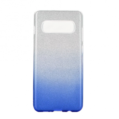 Forcell SHINING carcasa for Samsung Galaxy S10 clear/blue