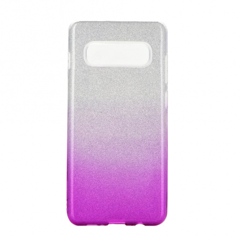Forcell SHINING carcasa for Samsung Galaxy S10 clear/pink