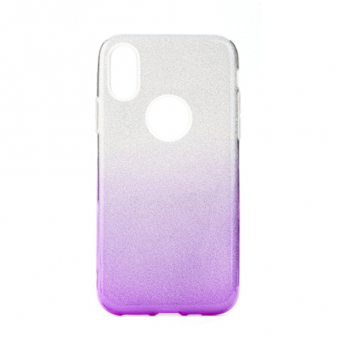 Forcell SHINING carcasa for Huawei P40 LITE E Transparent/violet