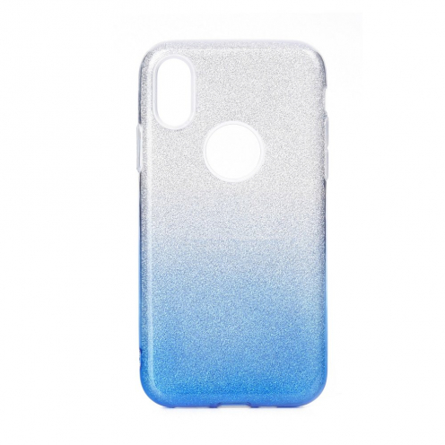 Forcell SHINING carcasa for Huawei P40 LITE E clear/blue