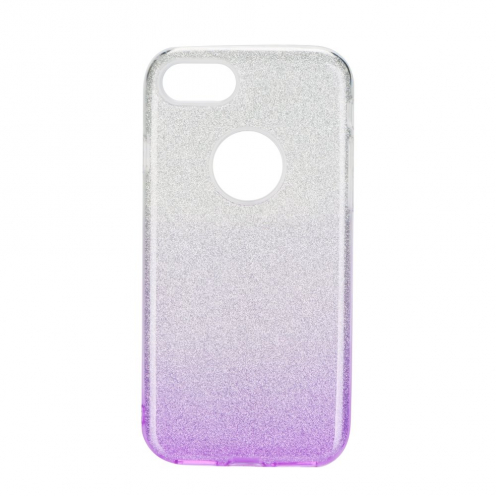 Forcell SHINING carcasa for iPhone 7 / 8 / SE 2020 clear/violet