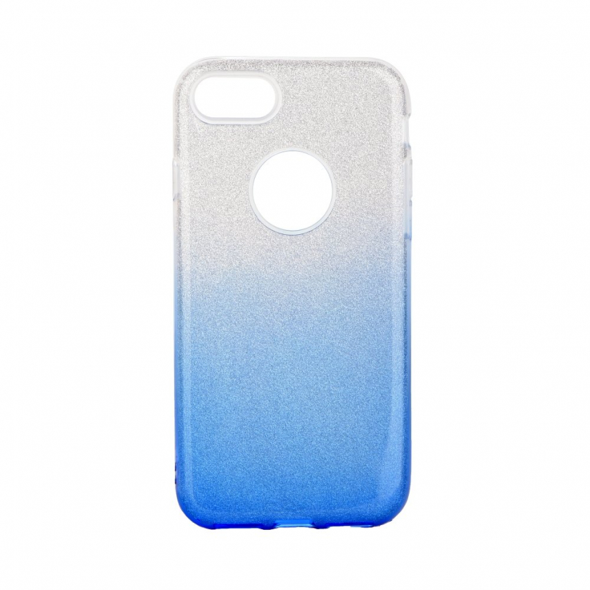 Forcell SHINING carcasa for iPhone 7 / 8 / SE 2020 clear/blue