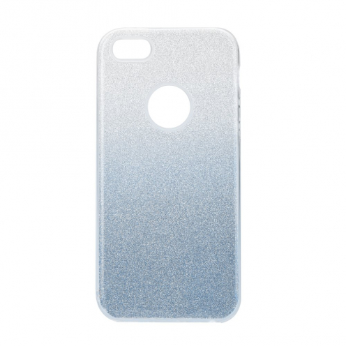 Forcell SHINING carcasa for iPhone 5/5S/SE clear/blue