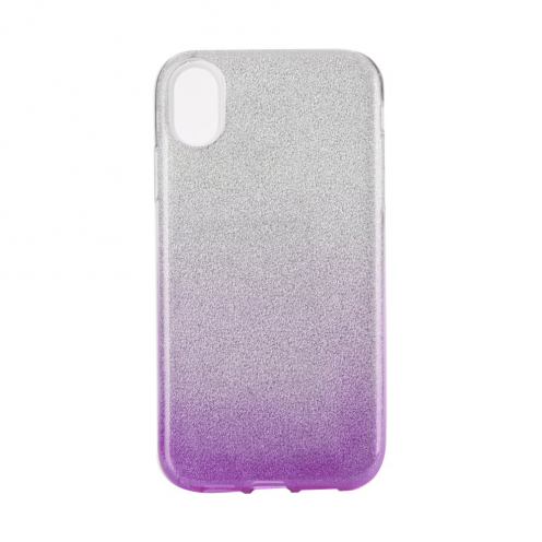 "Forcell SHINING carcasa for iPhone XR ( 6,1"" ) clear/violet"