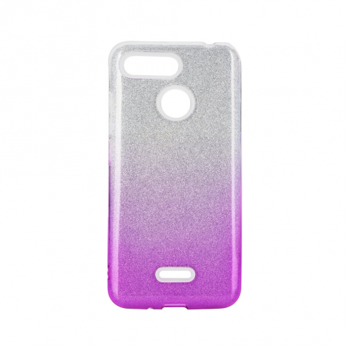 Forcell SHINING carcasa for Xiaomi Redmi 8 / Redmi 8A clear/pink