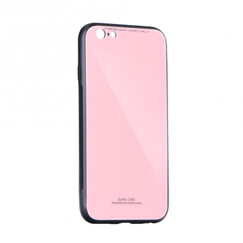 GLASS carcasa for iPhone 12 / 12 PRO pink