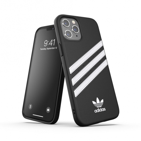 ADIDAS Originals Moulded carcasa for iPhone 12 PRO MAX black white