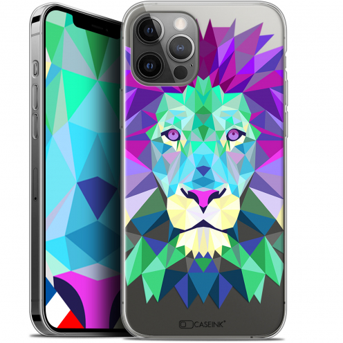 "Carcasa Gel Extra Fina Apple iPhone 12 / 12 Pro (6.1"") Polygon Animals León"