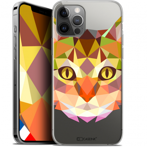 "Carcasa Gel Extra Fina Apple iPhone 12 / 12 Pro (6.1"") Polygon Animals Gato"