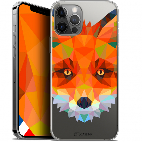 "Carcasa Gel Extra Fina Apple iPhone 12 / 12 Pro (6.1"") Polygon Animals Zorro"