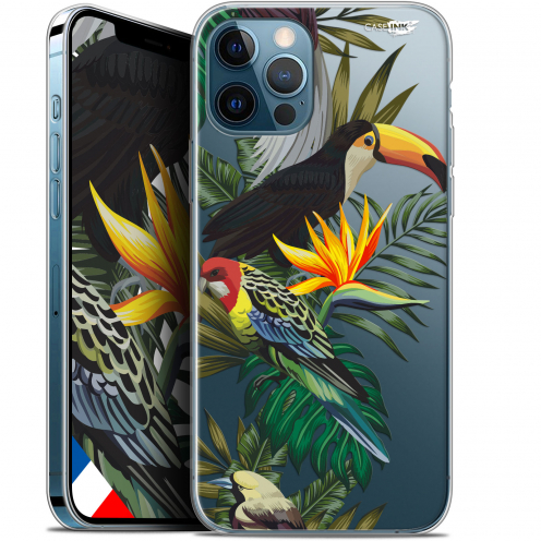 "Carcasa Gel Extra Fina Apple iPhone 12 / 12 Pro (6.1"") Design Toucan Tropical"