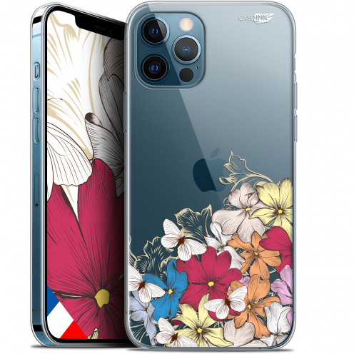 "Carcasa Gel Extra Fina Apple iPhone 12 / 12 Pro (6.1"") Design Nuage Floral"