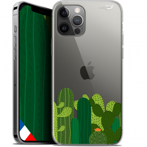 "Carcasa Gel Extra Fina Apple iPhone 12 / 12 Pro (6.1"") Design Cactus"