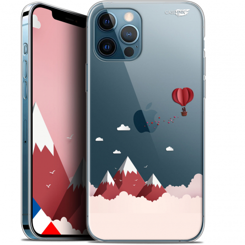 "Carcasa Gel Extra Fina Apple iPhone 12 / 12 Pro (6.1"") Design Montagne En Montgolfière"