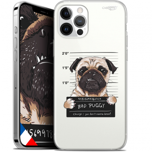 "Carcasa Gel Extra Fina Apple iPhone 12 / 12 Pro (6.1"") Design Beware The Puggy Dog"