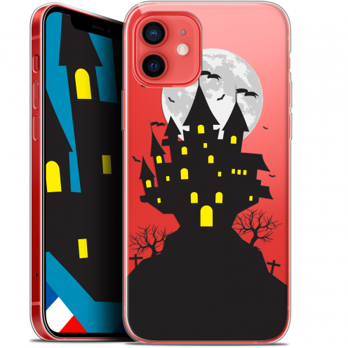 "Carcasa Gel Extra Fina Apple iPhone 12 Mini (5.4"") Halloween Castle Scream"