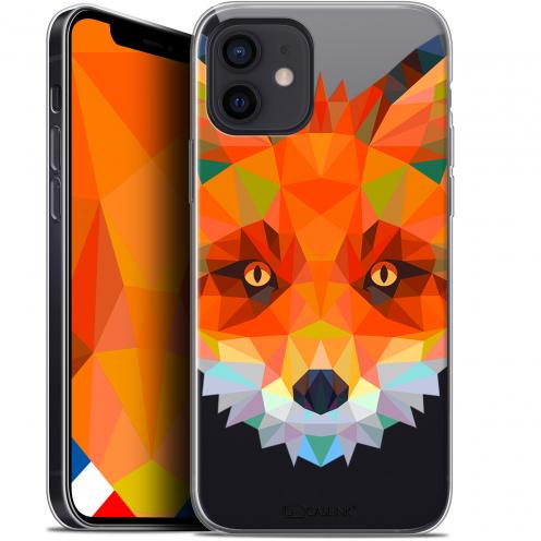 "Carcasa Gel Extra Fina Apple iPhone 12 Mini (5.4"") Polygon Animals Zorro"