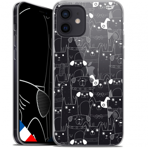 "Carcasa Gel Extra Fina Apple iPhone 12 Mini (5.4"") Design Chien Blanc"
