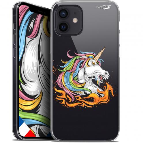 """Carcasa Gel Extra Fina Apple iPhone 12 Mini (5.4"""") Design Licorne de Feu"""