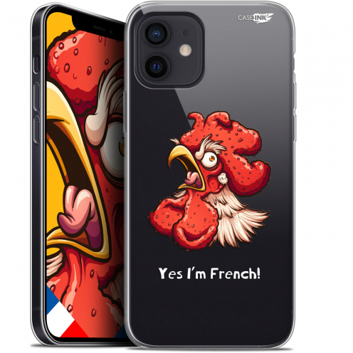 "Carcasa Gel Extra Fina Apple iPhone 12 Mini (5.4"") Design I'm French Coq"