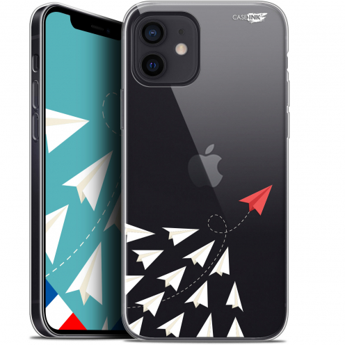 "Carcasa Gel Extra Fina Apple iPhone 12 Mini (5.4"") Design Papier Volant"