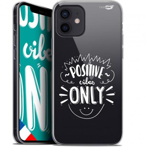 "Carcasa Gel Extra Fina Apple iPhone 12 Mini (5.4"") Design Positive Vibes Only"