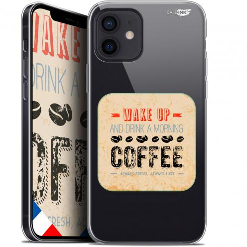 "Carcasa Gel Extra Fina Apple iPhone 12 Mini (5.4"") Design Wake Up With Coffee"