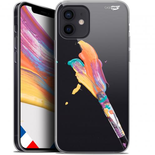 """Carcasa Gel Extra Fina Apple iPhone 12 Mini (5.4"""") Design Pinceau de Peinture"""
