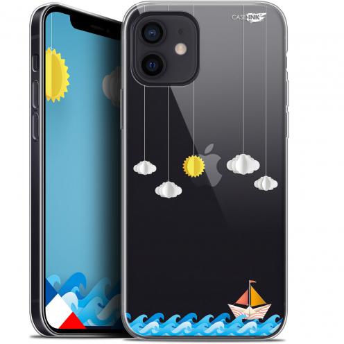 "Carcasa Gel Extra Fina Apple iPhone 12 Mini (5.4"") Design Petit Bateau en Mer"