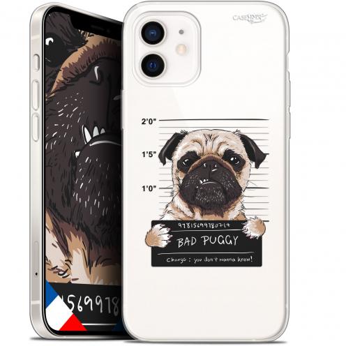 "Carcasa Gel Extra Fina Apple iPhone 12 Mini (5.4"") Design Beware The Puggy Dog"